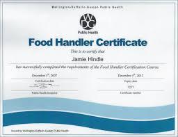food handler certificate gallery design templates free