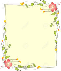 Image Flower Frame Border Design Vector Art Stock Vector 46147994 123rfcom Frame Border Design Vector Art Royalty Free Cliparts Vectors And