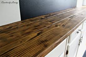 creative home design appealing diy wood kitchen countertops luxury torched diy rustic wood counter for