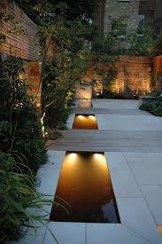 contemporary landscape lighting. contemporary landscape/yard with underwater light pond lighting for low voltage landscape r