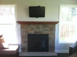 Reface Fireplace Ideas Gas Fireplace Insert Custom Maple Mantel Fieldstone Fireplace