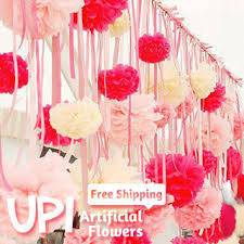 Tissue Paper Flower Decor Wholesale 200pcs 4inch Free Shipping Tissue Paper Flowers Ball