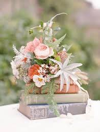 vine flowers on book wedding centerpiece himisspuff rustic wedding centerpiece ideas 20