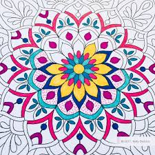 Flower Mandala Free Coloring Page Kelly Dietrich Mandala Art