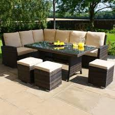 Kingston Low Dining Set Mix Brown | Buy Outdoor Furniture and Accessories  Online - Creative Living