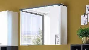 Spiegelschrank Fresh Badezimmer Schrank Weiß Matt Und Grau Inkl Led