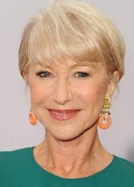 short haircuts with bangs for women over 60