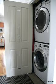 laundry closet doors bi fold turned french door laundry closet without doors