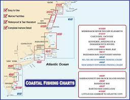 Fishing Charts Near Me Waterproof New England Coastal Fishing Charts At Bearsden Com