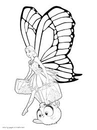 Barbie Fairies Coloring Coloring Pages