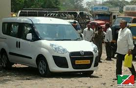 new car launches by fiatSpy Pics Fiat Doblo MPV Testing in India First Time 2015 Launch