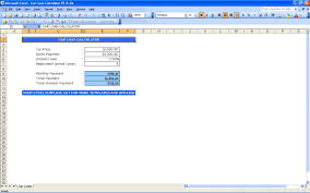 Auto Loan Calculator In Excel Car Loan Calculator Exceltemplate Net