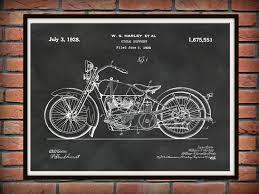 patent harley motorcycle poste simple harley davidson wall art