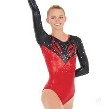 3220a eurotard womens super nova metallic rhinestoned long sleeve gymnastics leotard