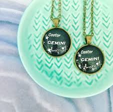 Gemini Necklace Created From A Vintage Star Chart Published In 1937 May Birthday Gift June Birthday Gift Zodiac Necklace Astrology