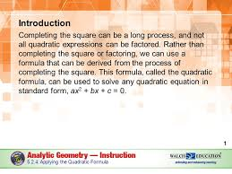 introduction completing the square can be a long process and not all quadratic expressions can