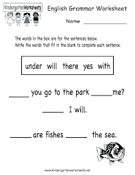 kindergarten english worksheets pdf – ravenheart.info