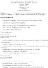 Warehouse Objective Resume Best Of Resume Examples For Warehouse It Resume Objectives It Resume