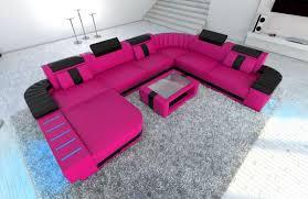 Wohnlandschaft Dresden Xl U Form Pink Schwarz Vadano Sofas Auf Amazon