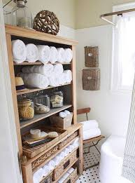 Rustic Bathroom Storage Bathroom Towel Storage Wine Rack Mounted To The Wall Over A Large