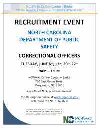 The Nc Department Of Public Safety Is Recruiting Correctional ...