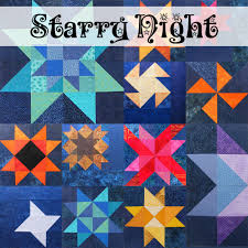 Starry Night Quilt - 2013 Block of the Month Series | Shiny Happy ... & Starry Night quilt pattern from Shiny Happy World Adamdwight.com