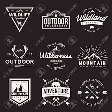 Vintage Logo Vector Vector Set Of Wilderness And Nature Exploration Vintage Logos