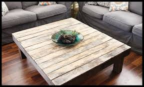 Image Of: Square Rustic Coffee Table Pallet