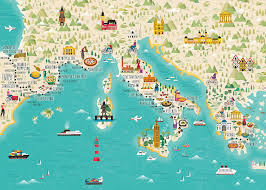 Lylycty 7x5ft Game Map Backdrop Coast And Country World Map Theme Party Studio Video Props Wallpaper Backgrounds Ly265