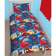 marvel spiderman webhead single duvet cover bedding set reversible spa