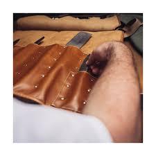 chefwear handmade leather knife roll honey brown 358 80 each chefwear cw2430 215