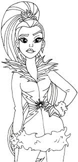 Small Picture Coloring Pages Free Printable Coloring Page For Super Hero High