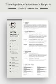 Kavin Weliyam Modern Resume Template Clothing Retail Logo Modern