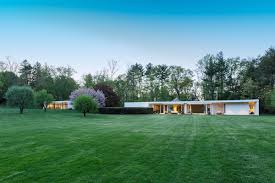 harvard five architect eliot noyes completed the home in 1965 photos courtesy of houlihan lawrence