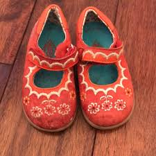 Toddler Oilily Mary Jane Style Shoes W Embroidery