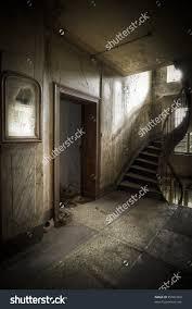 Dare Go Creepy Hallway Moody Atmosphere Stock Photo - Creepy basement stairs