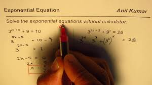how to solve exponential equations without calculator ib math sl