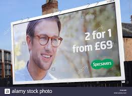 specsavers billboard advertisement mansfield nottinghamshire uk  specsavers billboard advertisement mansfield nottinghamshire uk