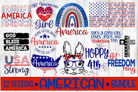 Free svg image & icon. America Bundle 12 Designs Svg Eps Dxf Png 558621 Cut Files Design Bundles
