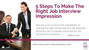 5 steps to make the right job interview impression