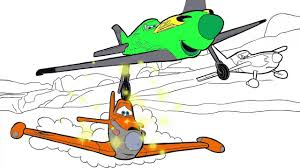 Disney Planes Coloring Page 6 Racing Little Hands Coloring Book