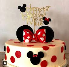 Minnie Mouse Cake Topper Birthday Cake Topper Mickey Mouse Etsy