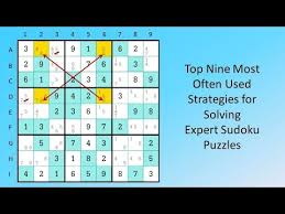 Sudoku Puzzel Solver Top Nine Most Often Used Strategies For Solving Expert Sudoku