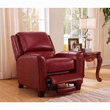 carnegie crimson red premium top grain leather recliner chair phoenix red size oversized
