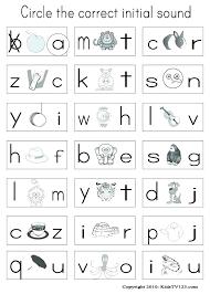 Preschool Phonics Worksheets Pre K Kindergarten