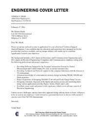 Network Engineer Cover Letter Examples For A Covering Letter