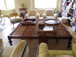 coffee table captivating oversized coffee table furniture and home decor with mesh table and trays