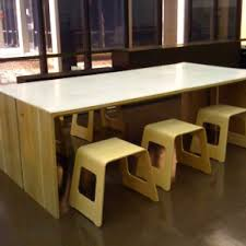 Contemporary office cool office decorating ideas Wood Cool Hardwood Large Contemporary Desk With Backless Chairs In Open Floor Home Office Gabkko Cool Hardwood Large Contemporary Desk With Backless Chairs In Open