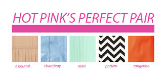 Some of this seasons hot pink color combinations. My favorite are the  chambray and tangerine.