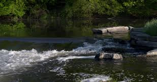Waterfall in the Semois river with rocks and early morning sunlight in  Belgium nature Stock Video Footage - VideoBlocks